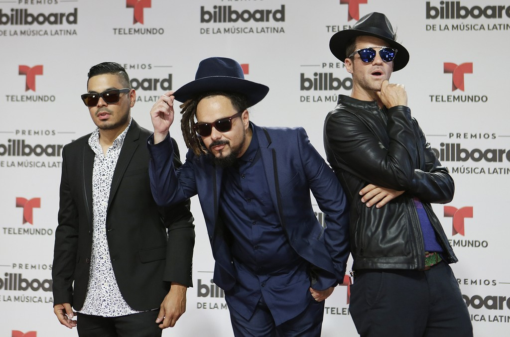 Locos Por Juana arrive at the Latin Billboard Awards on April 28, 2016 in Coral Gables, Fla.