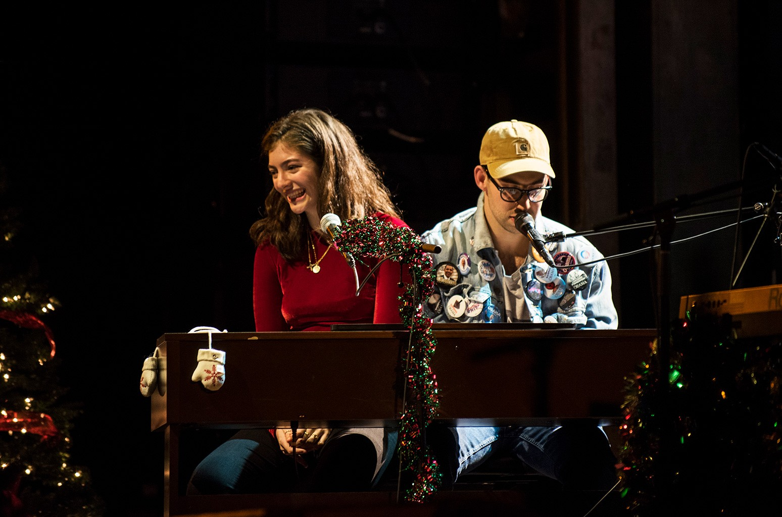 Lorde and Jack Antonoff perform during The Ally Coalition fundraiser on Dec. 12, 2016.