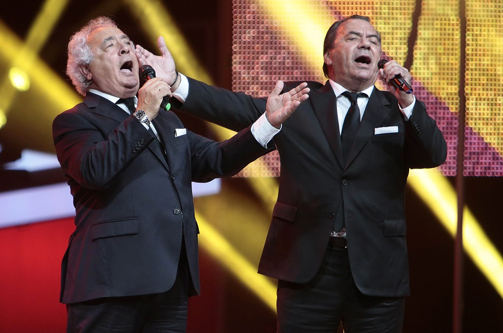 Los del Ri perform during the 61st Ondas Awards 2014  on stage at the Gran Teatre del Liceu on Nov. 25, 2014 in Barcelona, Spain.
