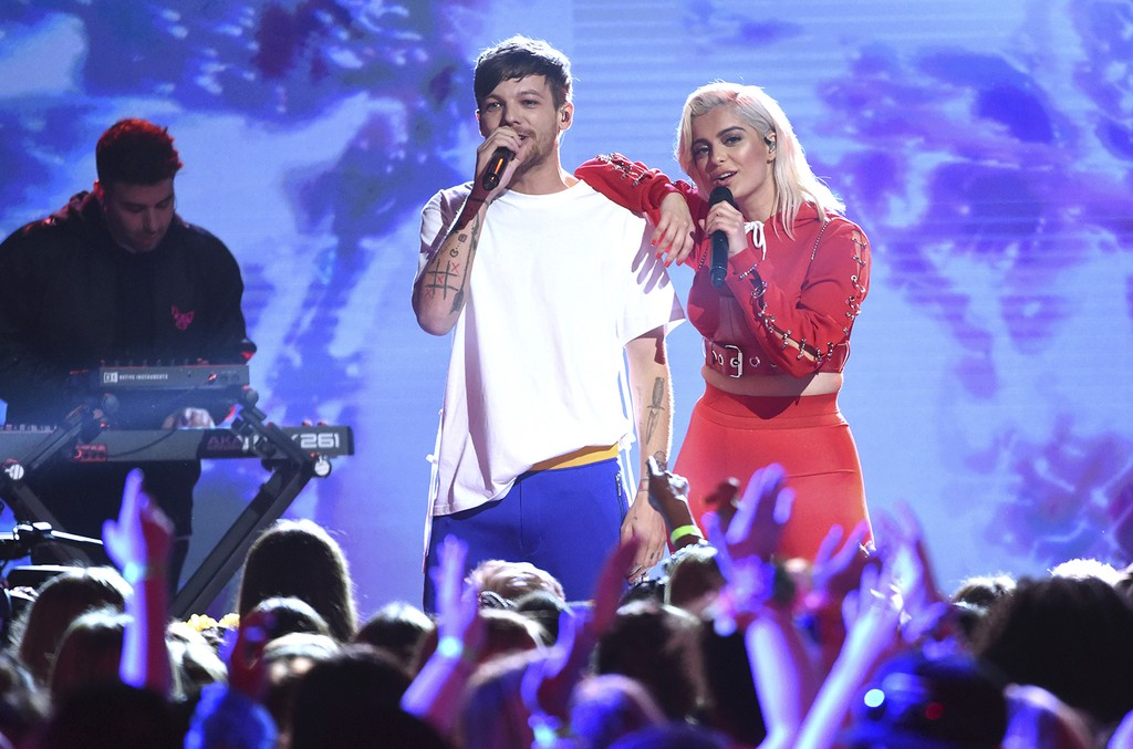 Louis Tomlinson and Bebe Rexha ,Teen Choice Awards, 2017