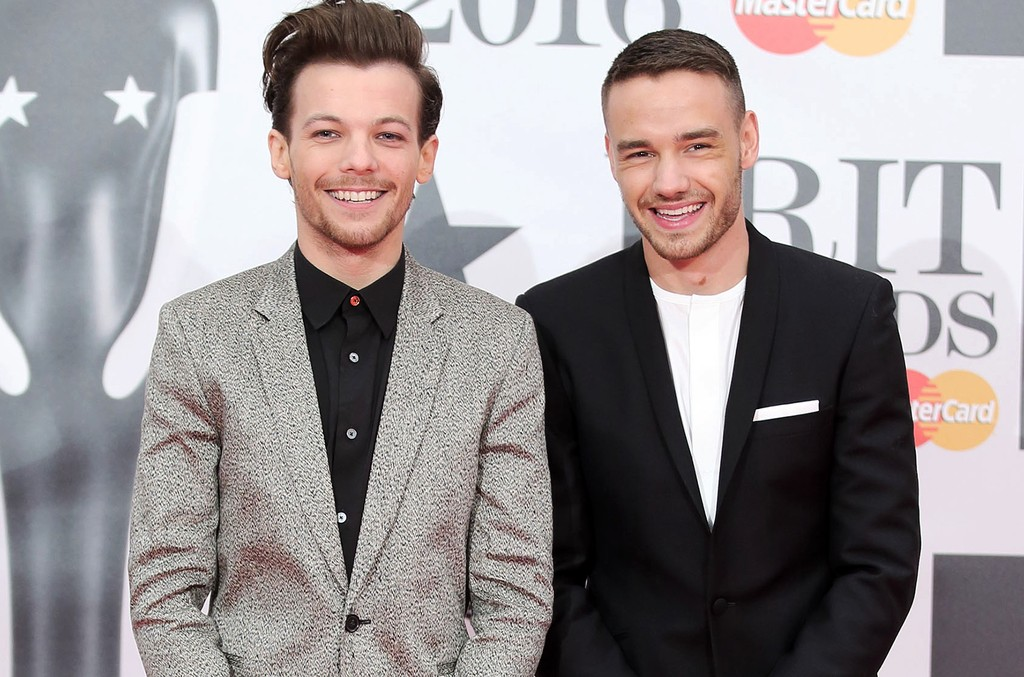 Louis Tomlinson and Liam Payne attend the BRIT Awards 2016 at The O2 Arena on Feb. 24, 2016 in London.