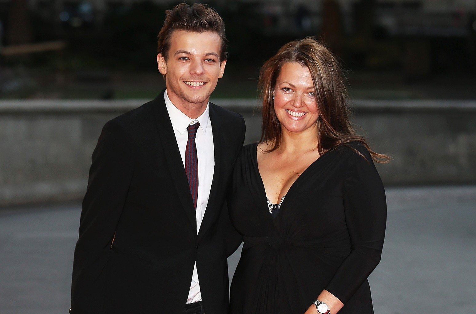 Louis Tomlinson and his mother Johannah Poulston