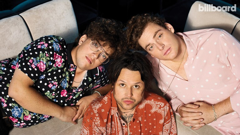 <p>lovelytheband&rsquo&#x3B;s Greenwald, Price and Collins (clockwise from top right) photographed on Aug. 8, 2018 at Tramp Stamp Granny&rsquo&#x3B;s in Los Angeles.</p>