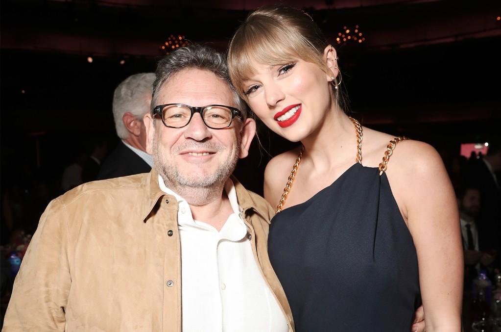 Lucian Grainge and Taylor Swift