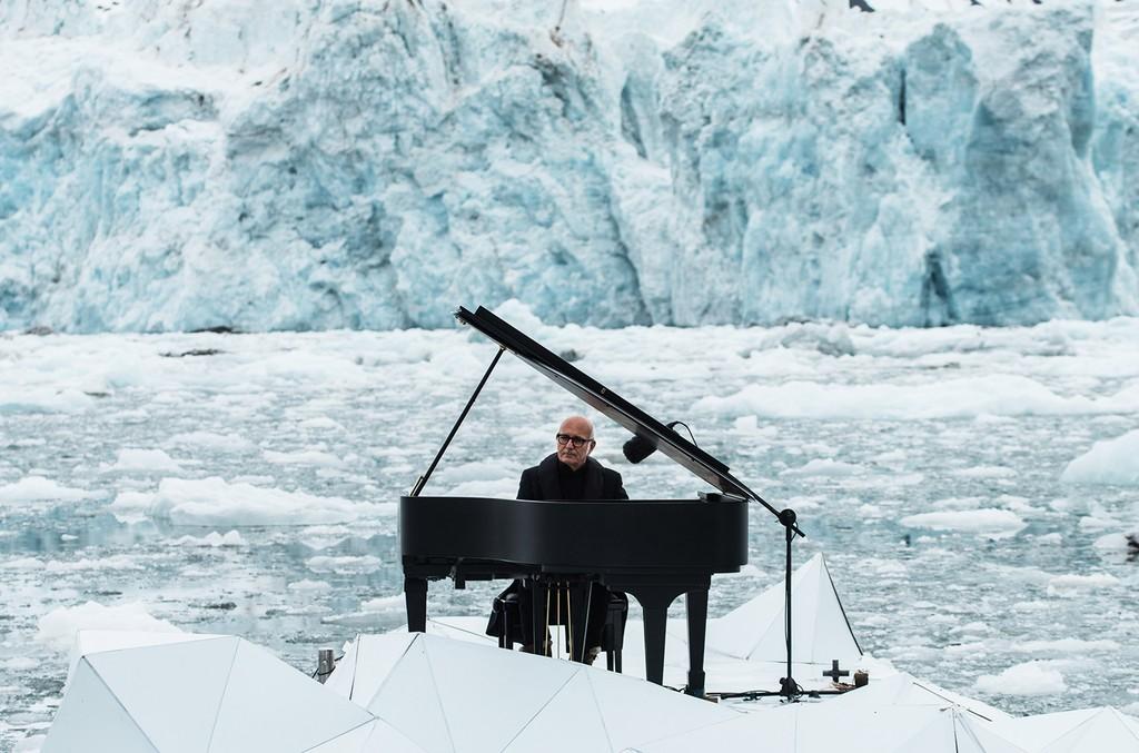Ludovico Einaudi playing in the Arctic Ocean