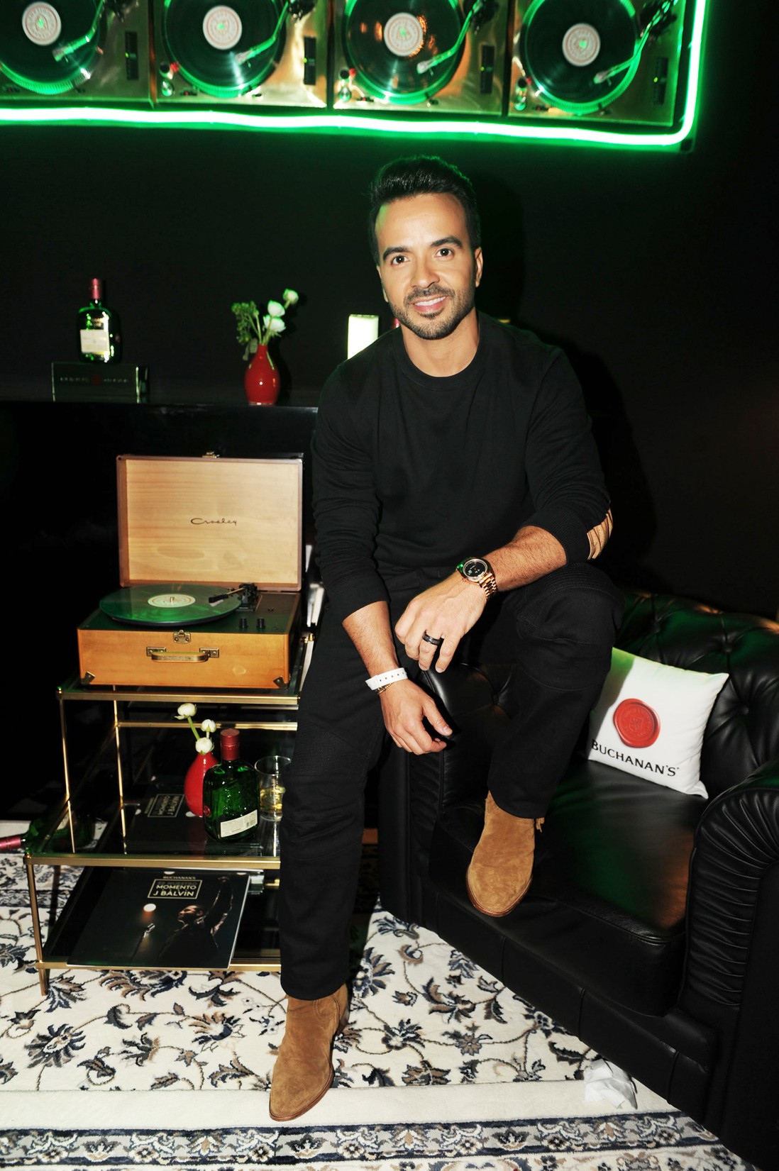 Luis Fonsi at the Casa Buchanan's Billboard Latin Kickoff Party in Miami on April 26, 2017.