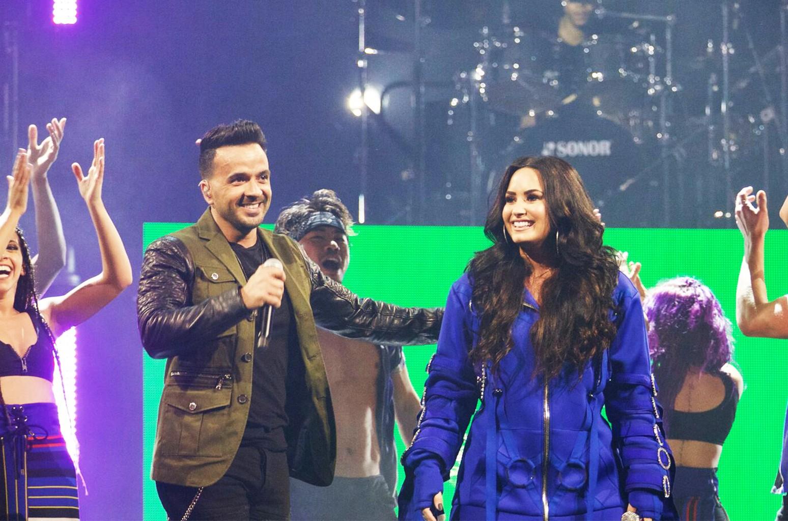 Luis Fonsi and Demi Lovato