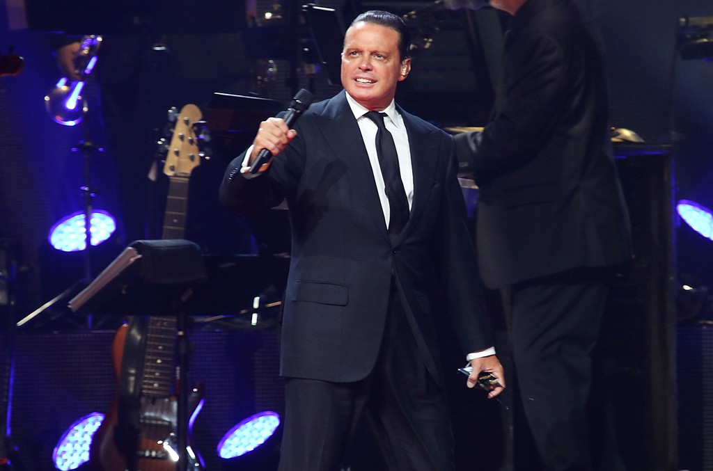 Luis Miguel performs at American Airlines Arena on Dec. 10, 2015 in Miami.