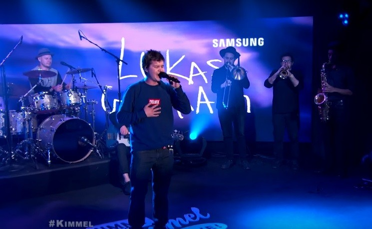 "Lukas Graham performs on ""Jimmy Kimmel Live"""