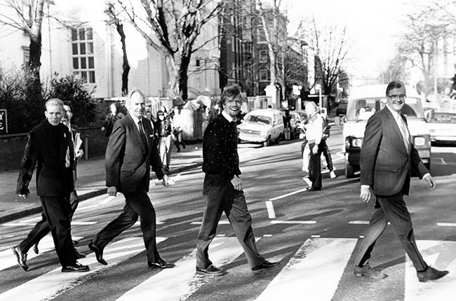 Matt Goss, George Martin, Richard Branson and Kenneth Baker
