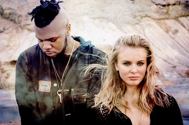 """MNEK and Zara Larsson for """"Never Forget You"""" in 2016."""