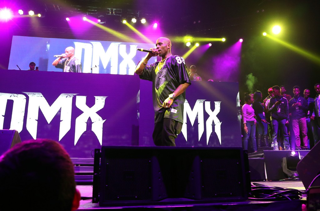 DMX performs during the Ruff Ryders Reunion Concert at Barclays Center on April 21, 2017 in New York City.