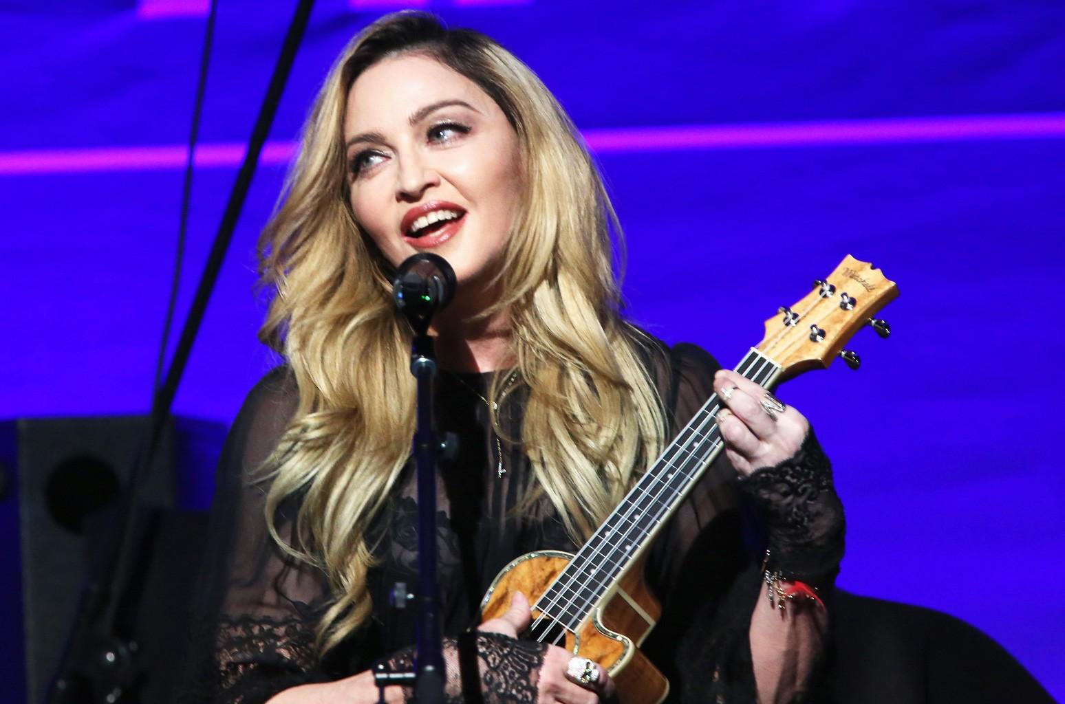 Madonna performs at the 5th Annual Sean Penn & Friends HELP HAITI HOME Gala, 2016