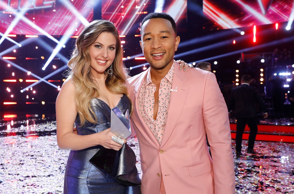 Maelyn Jarmon and John Legend on The Voice.