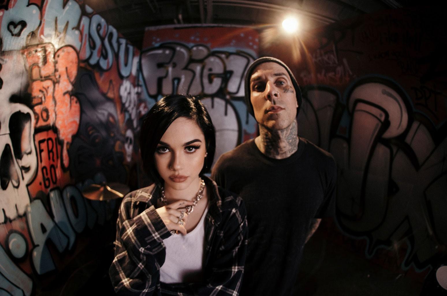Maggie Lindemann and Travis Barker