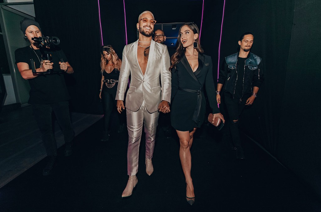 Maluma and Natalia Barulich during his 11:11 Release Party.