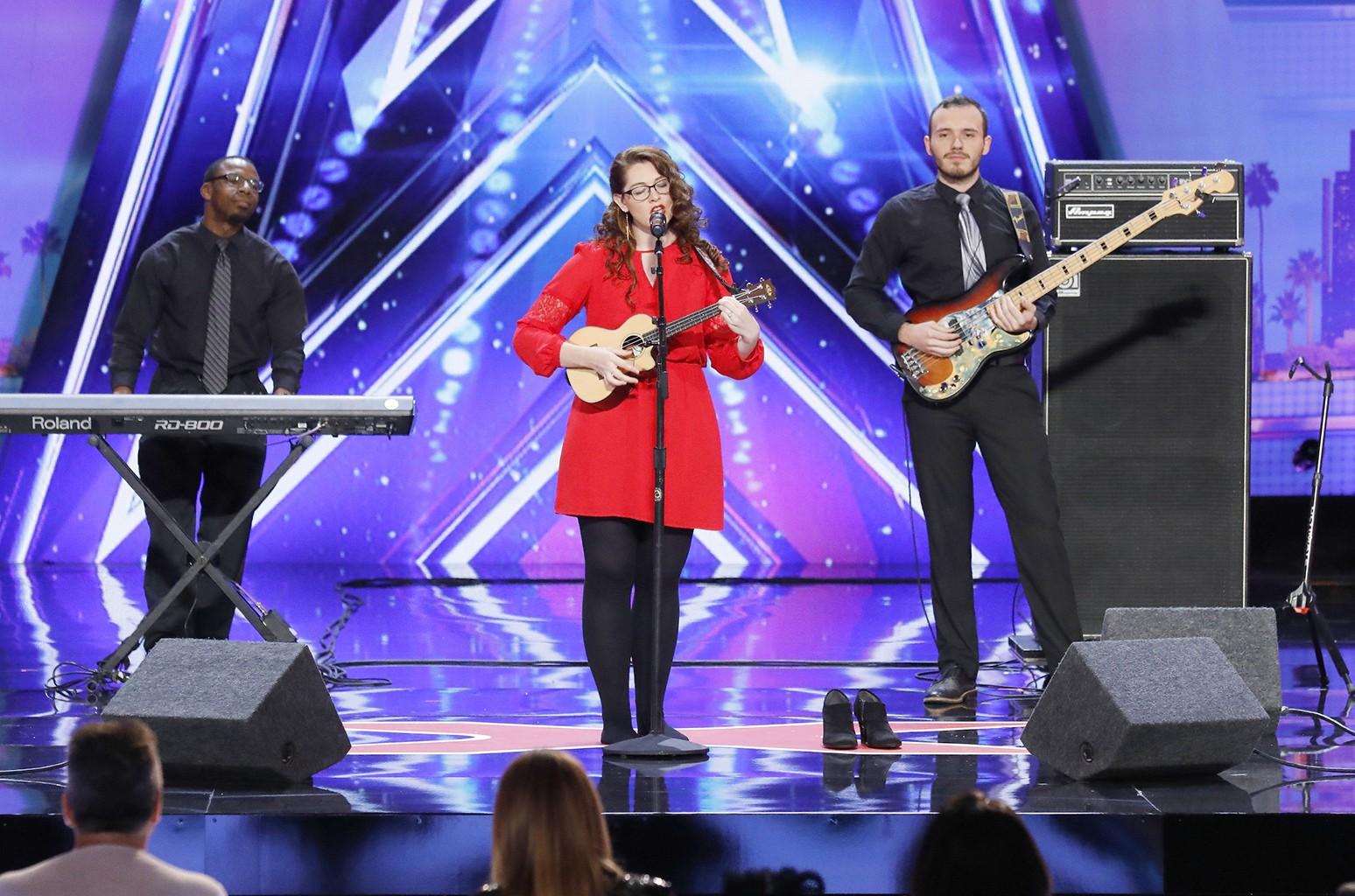 Mandy Harvey performs on America's Got Talent.