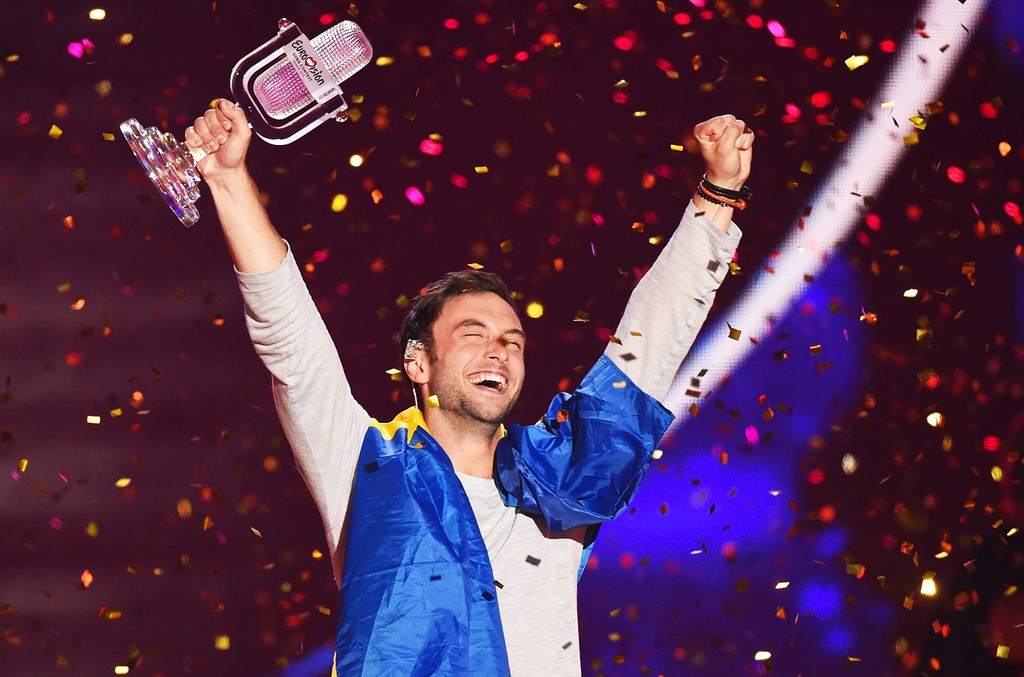 Mans Zelmerloew of Sweden, Eurovision Song Contest 2015 Winner