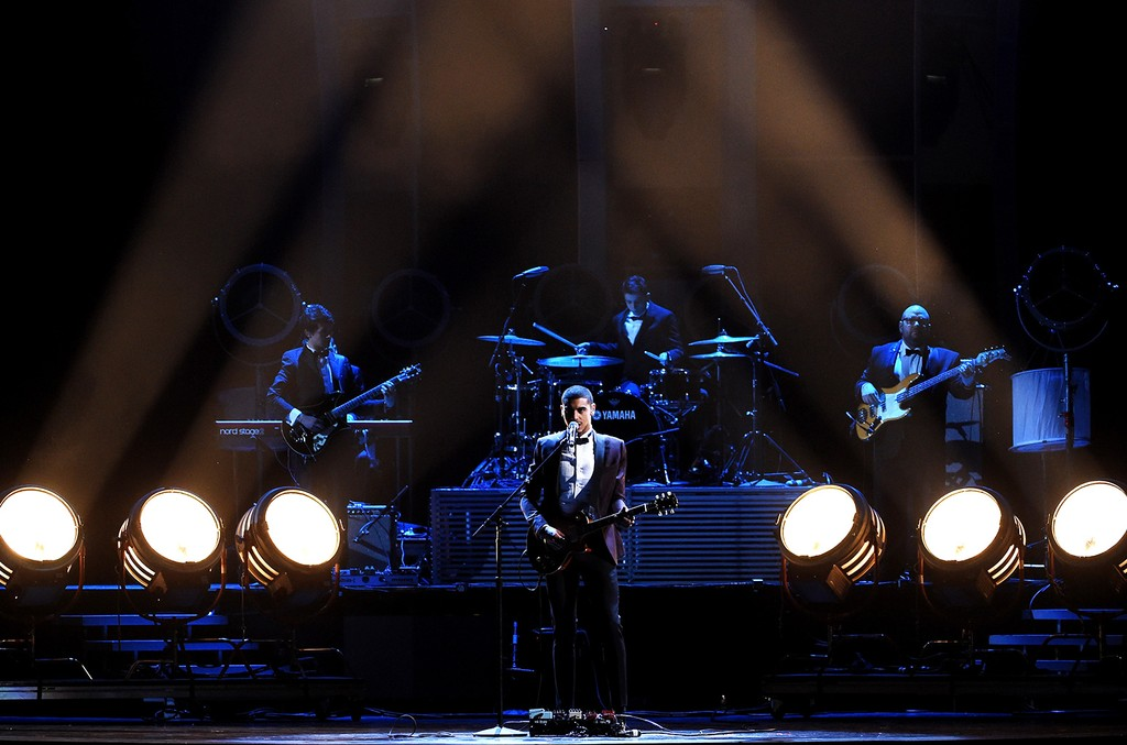 Manuel Medrano performs onstage during The 17th Annual Latin Grammy Awards at T-Mobile Arena on Nov. 17, 2016 in Las Vegas.