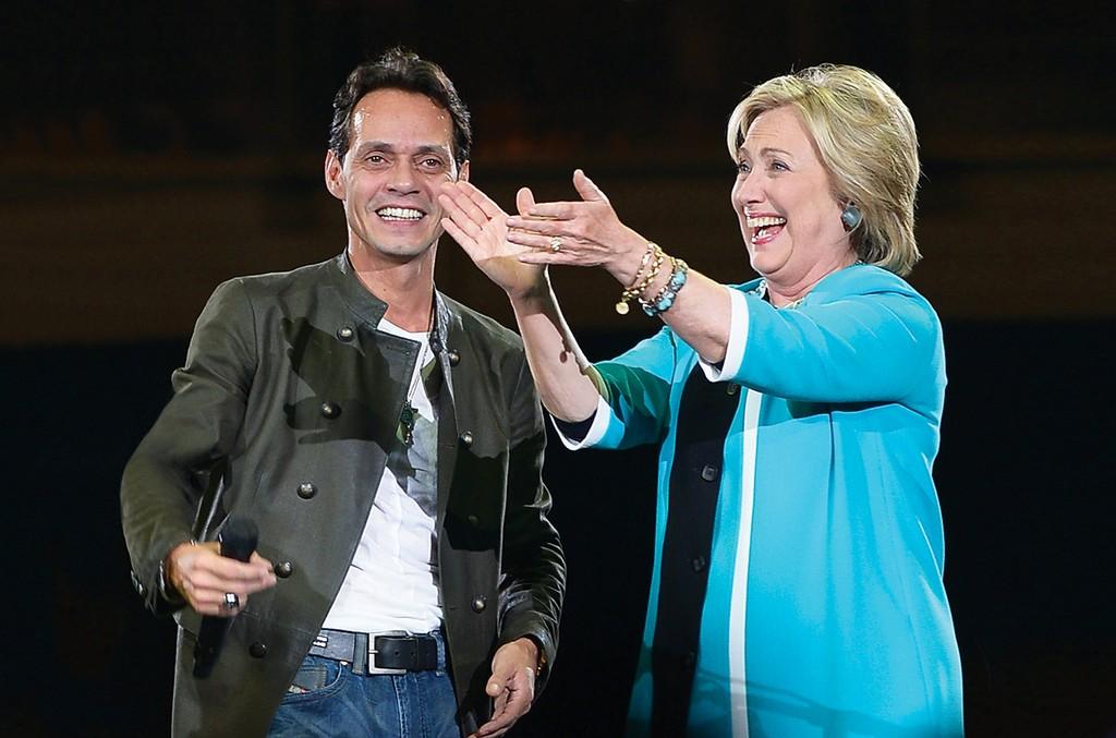 Marc Anthony & Hillary Clinton