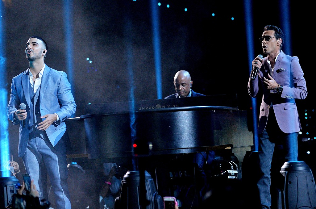 Luis Figueroa and Marc Anthony at Premios Juventud Youth Awards