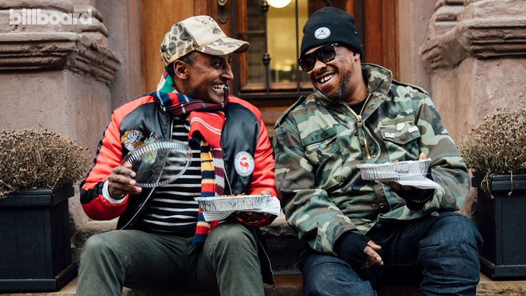 <p>Marcus Samuelsson (left) and A Tribe Called Quest&#39&#x3B;s Jarobi White photographed Jan. 16 in Harlem.</p>