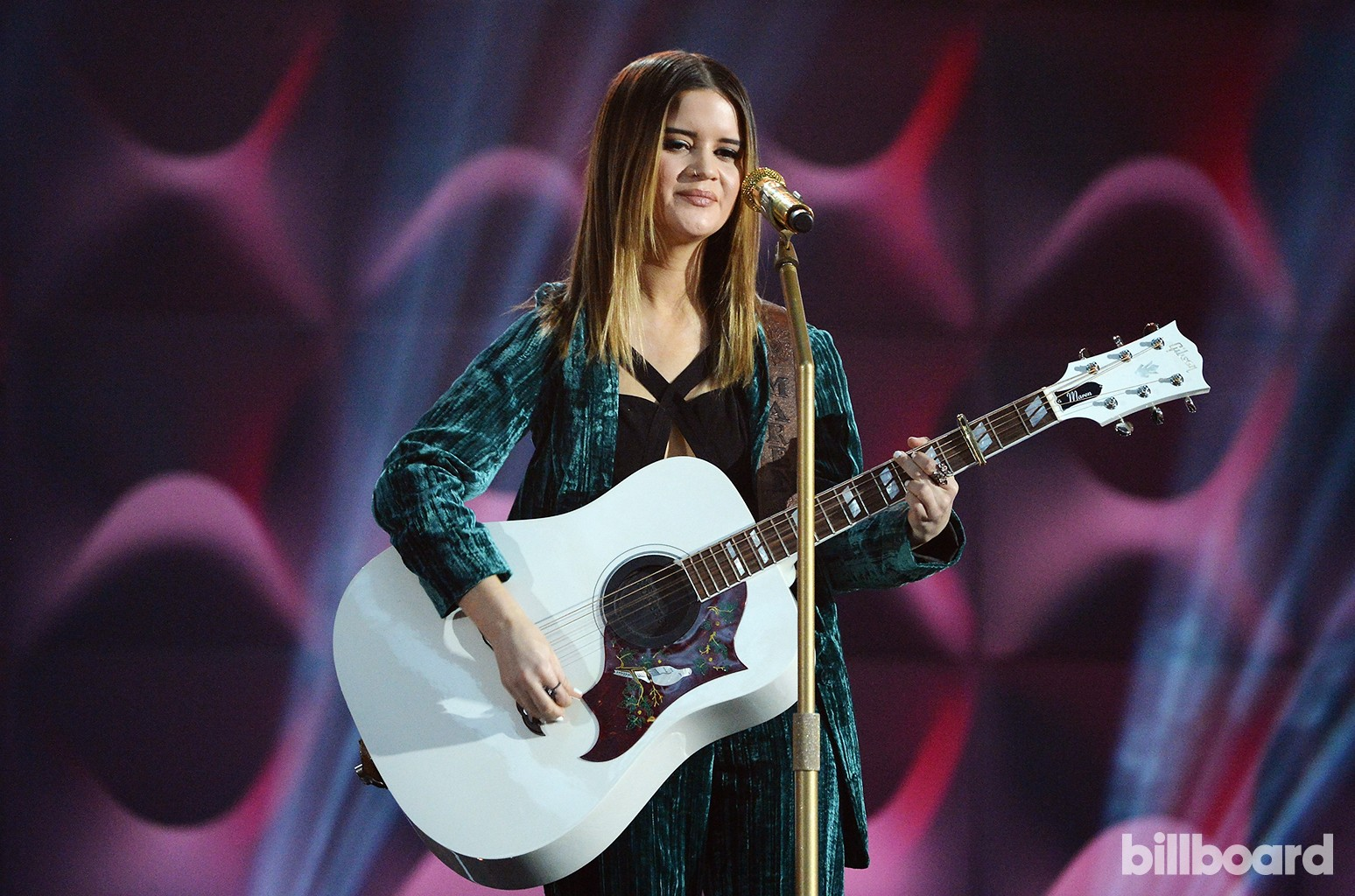 Maren Morris performs at the Billboard Women in Music 2016 event on Dec. 9, 2016 in New York City.