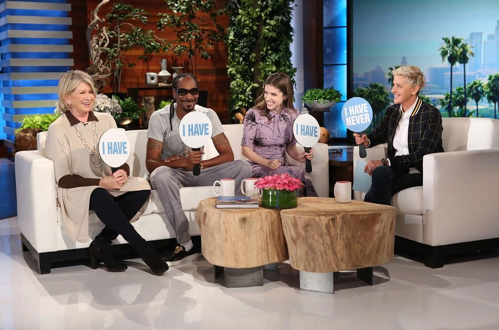 Anna Kendrick, Martha Stewart and Snoop Dog