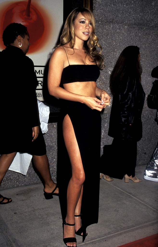 Mariah Carey during 1997 MTV Video Music Awards at Radio City Music Hall in New York City.