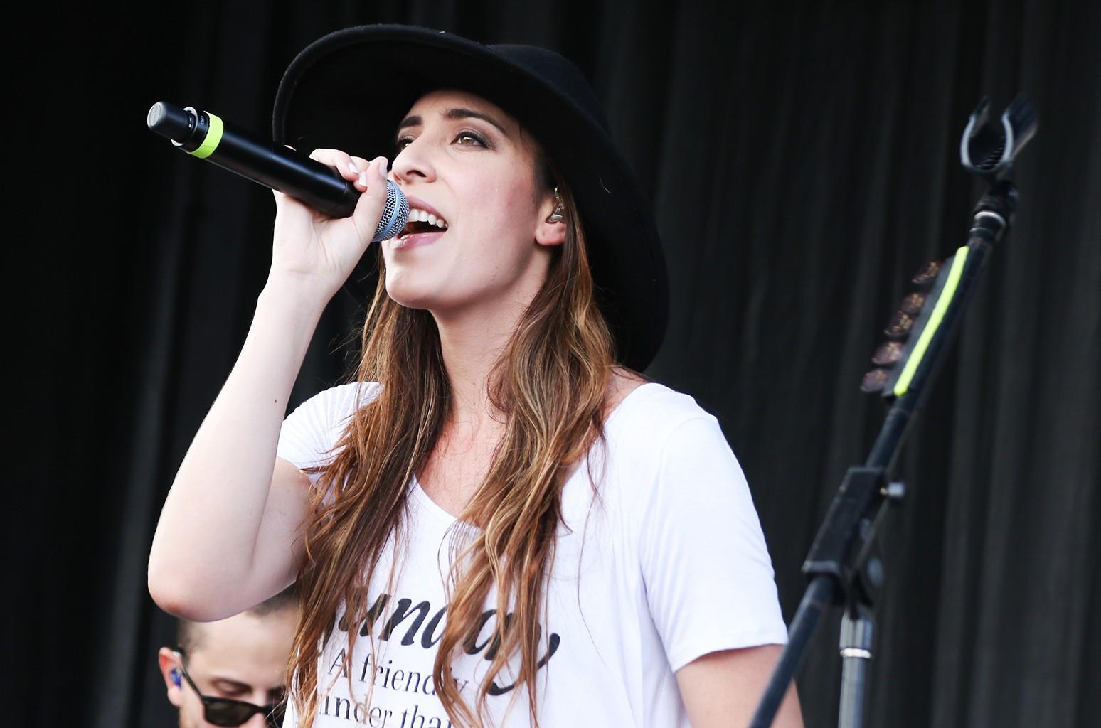 Mariana Vega performs at the Latin Grammy Street Parties Miami on Nov. 8, 2015 in Hialeah, Fla.