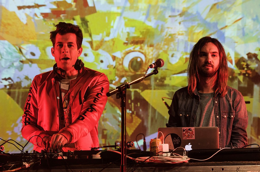 Mark Ronson and Kevin Parker at Glastonbury Festival on June 26, 2016.