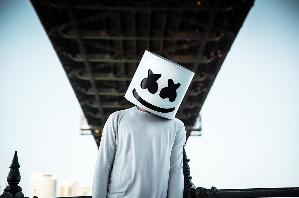 Marshmello photographed in 2016.