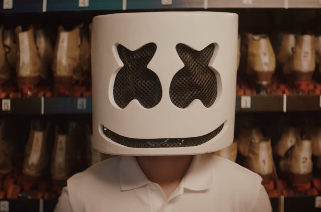 Marshmello in the video for Summer.