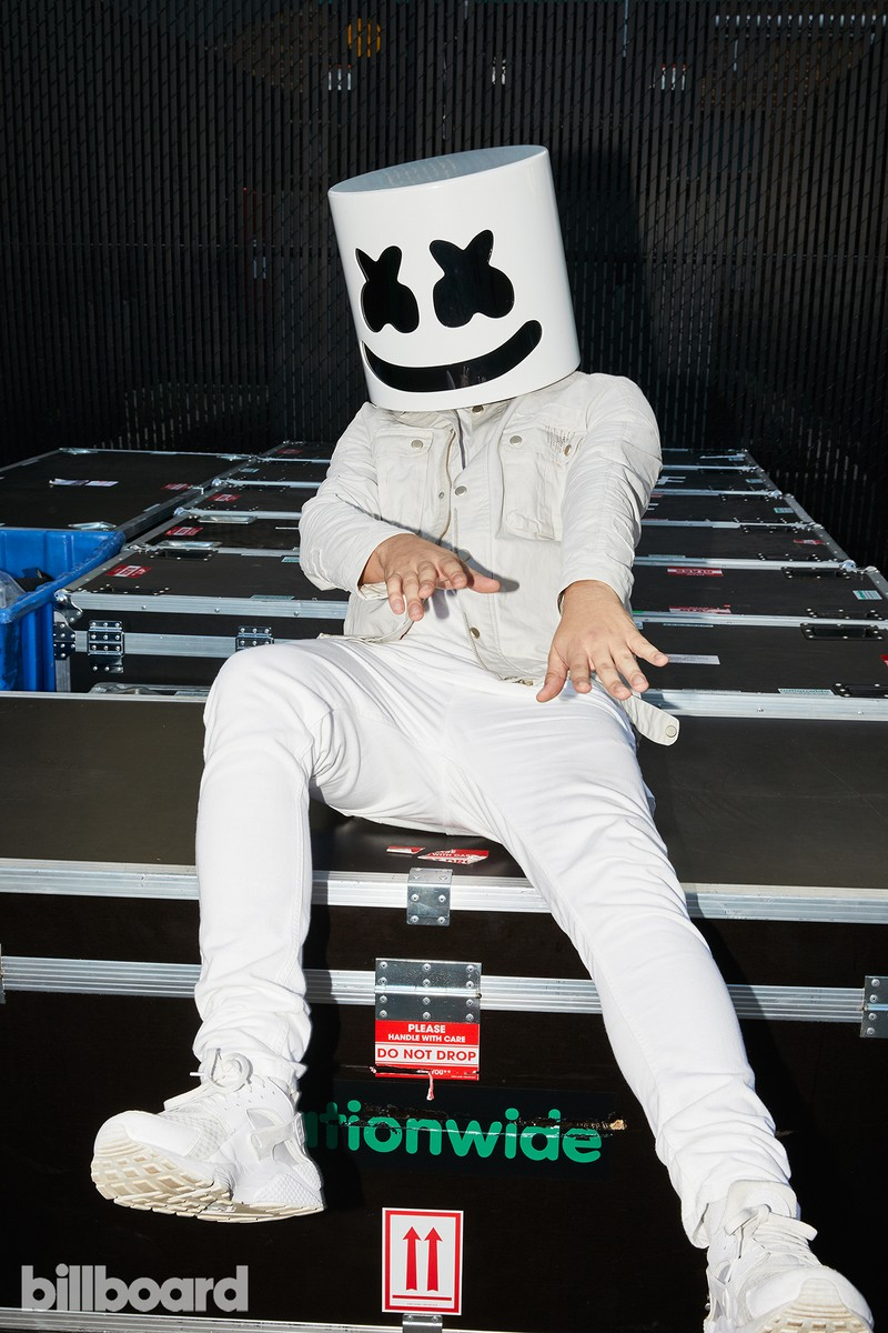 Marshmello at the Hot 100 Music Festival, 2017