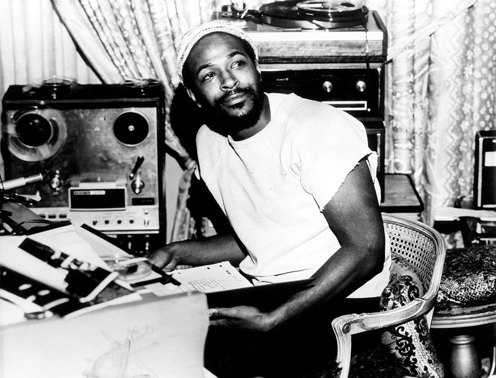 Marvin Gaye photographed in 1971.