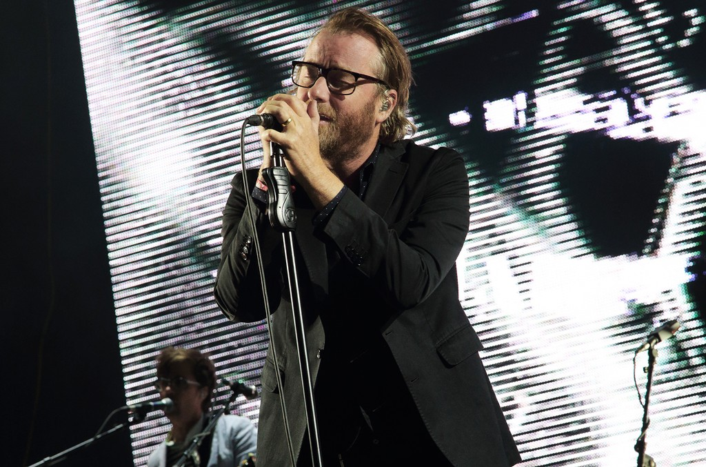 Matt Berninger and The National performs at The Sasquatch! Music Festival at the Gorge Amphitheatre on May 24, 2014 in George, Wa.