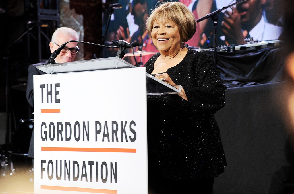 Mavis Staples speaks onstage during the Gordon Parks Foundation Awards Dinner & Auction at Cipriani 42nd Street on June 6, 2017 in New York City.