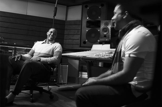Mets pitcher Jeurys Familia and Bachata artist Zacarias Ferreira in the studio, 2016.