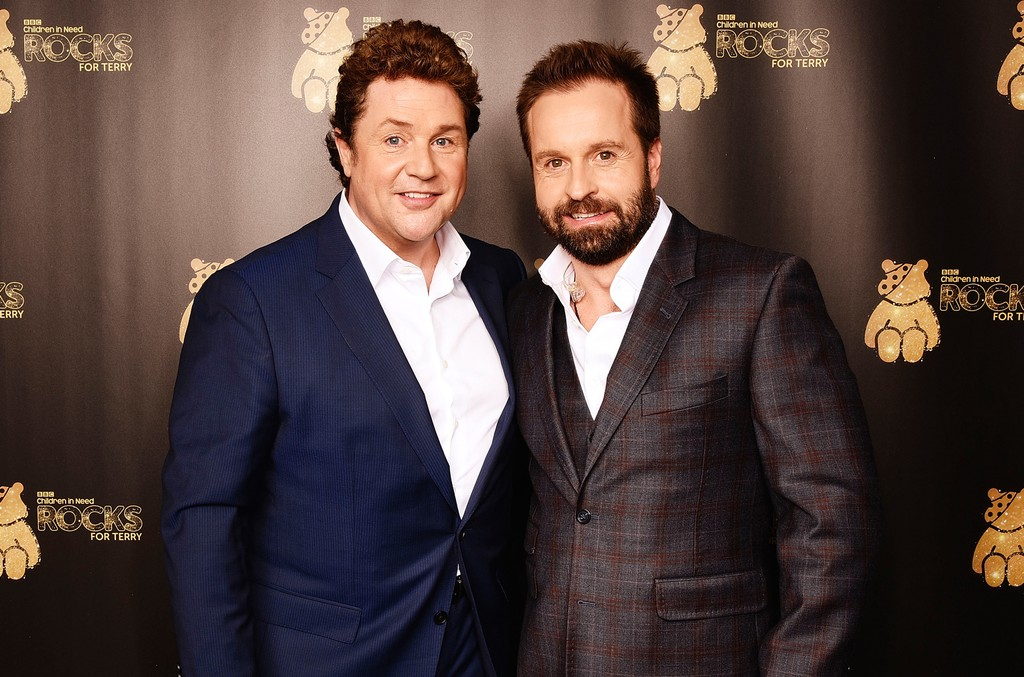 Michael Ball and Alfie Boe support BBC Children in Need Rocks for Terry at Royal Albert Hall on Nov. 1, 2016 in London, England.