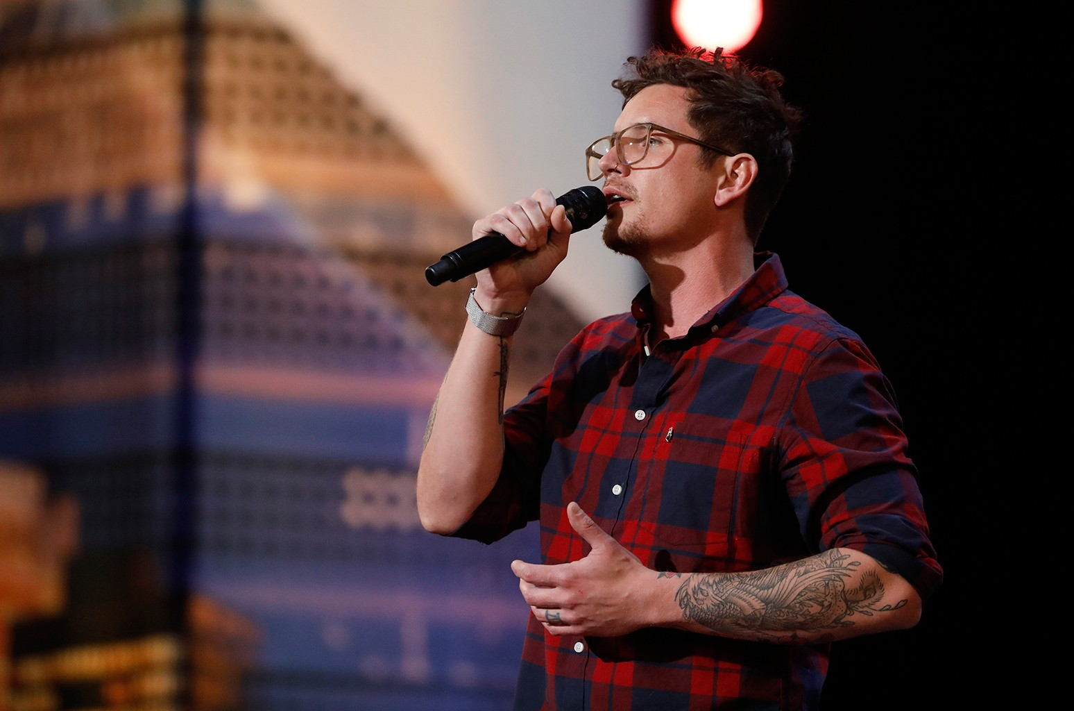 Michael Ketterer during auditions on America's Got Talent.