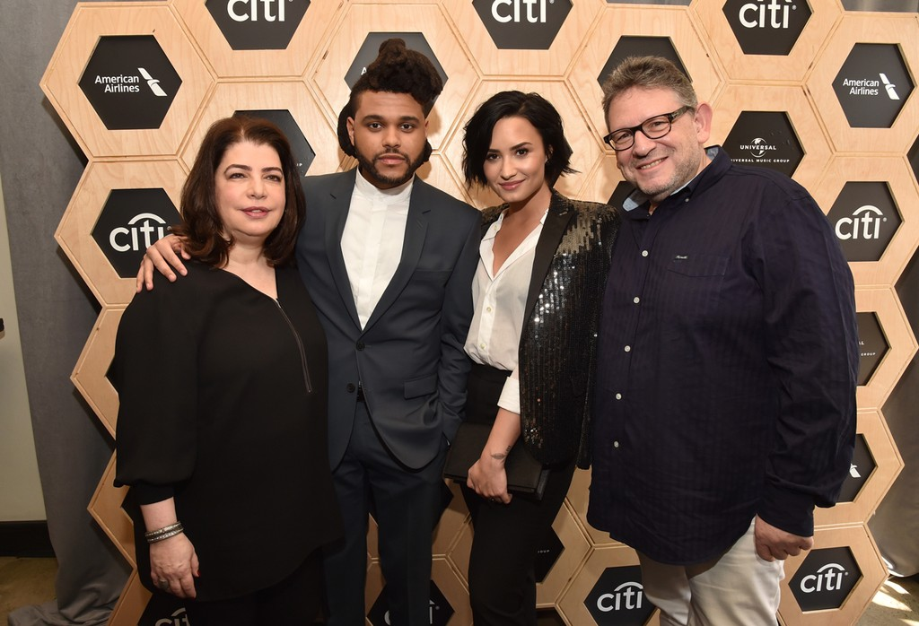 Michele Anthony, The Weeknd, Demi Lovato and Lucian Grainge