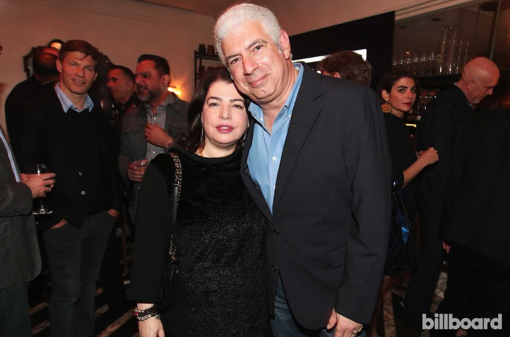Executive Vice President of U.S. Recorded Music Michele Anthony and Managing Director of Creative Artists Agency Rob Light attend 2017 Billboard Power 100 - Inside at Cecconi's on Feb. 9, 2017 in West Hollywood, Calif.