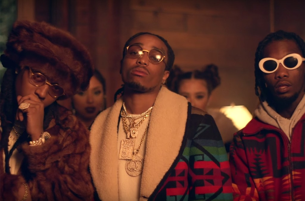 Migos in the video for T-Shirt