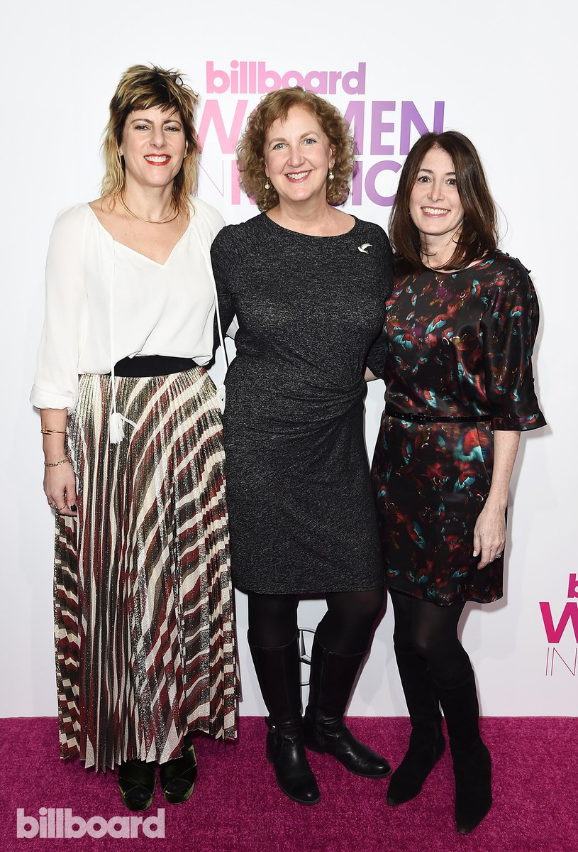 Mika El-Baz, Julie Swidler, and Nancy Marcus Seklir attend the Billboard Women in Music 2016 event on Dec. 9, 2016 in New York City.