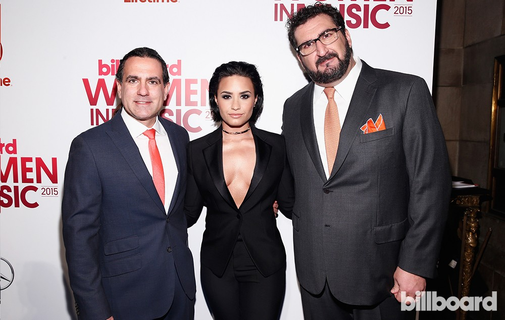 Mike Bruno, Demi Lovato and Tony Gervino