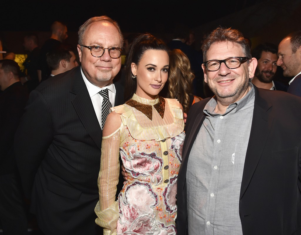 Mike Dungan, Kacey Musrgraves and Lucian Grainge at Grammys After Party