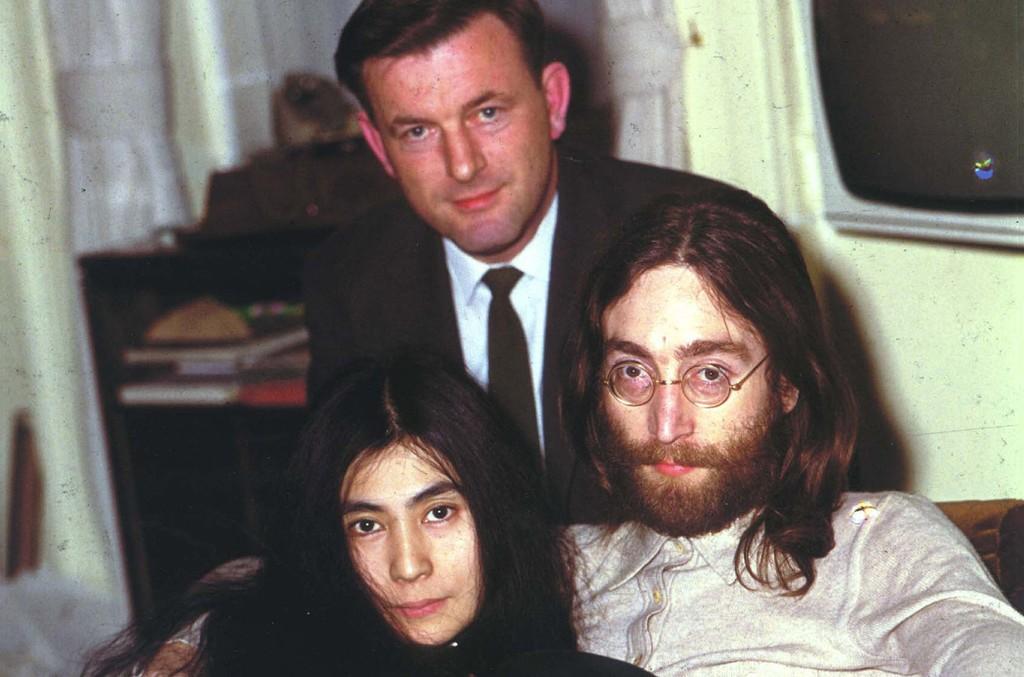 Mike Hennessey, John Lennon & Yoko Ono