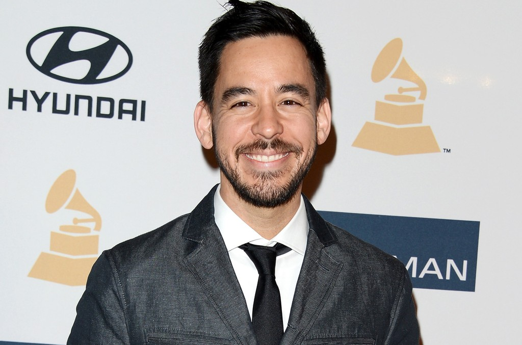 "Mike Shinoda arrives at Clive Davis & The Recording Academy's 2013 Pre-Grammy Gala and Salute to Industry Icons honoring Antonio ""L.A."" Reid at The Beverly Hilton Hotel on Feb. 9, 2013 in Beverly Hills, Calif."
