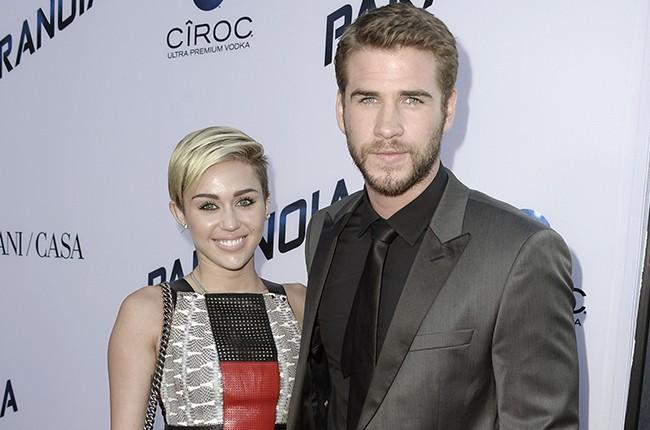 Miley Cyrus and actor Liam Hemsworth
