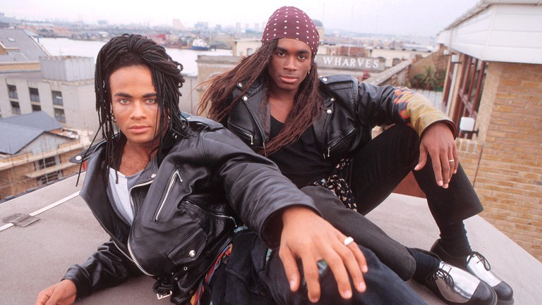 <p>Milli Vanilli photographed in London on Sept. 27, 1988.</p>